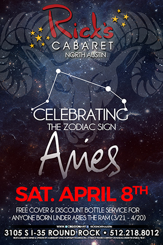 Saturday April 8th  Celebrating the zodiac sign