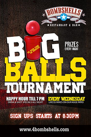 Graphic for Big Balls Tournement with DJ Lil J