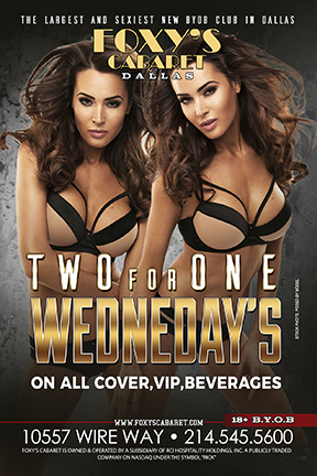 2 for 1 Wednesday