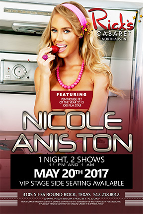 XXX Star and penthouse pet of the year Nicole Aniston Live on stage. one night only  2 shows 12a and 2a