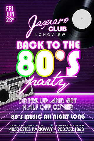 Graphic for Back to the 80's Party