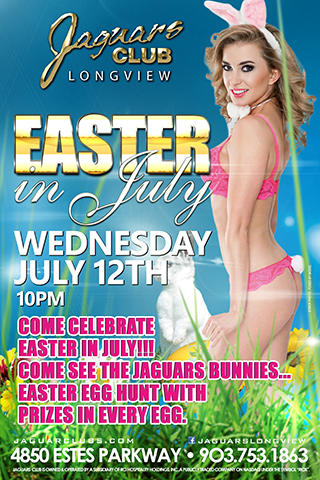 Easter in July - Come celebrate Easter in July!!! come see the Jaguars Bunnies... Easter Egg hunt with prizes in every egg.