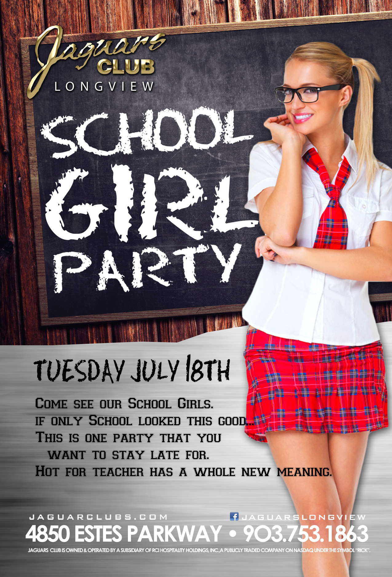 Graphic for School Girl Party