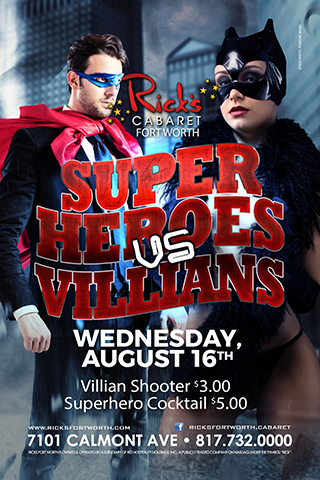 Super heroes v villains