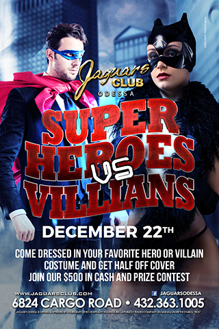 Graphic for villains vs heroes theme party