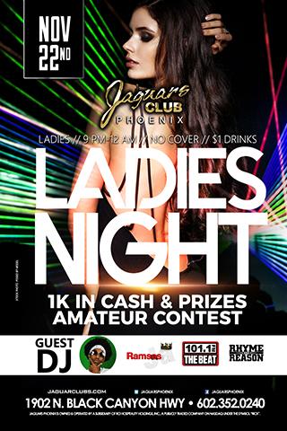 Graphic for Ladies Night/Amateur Contest