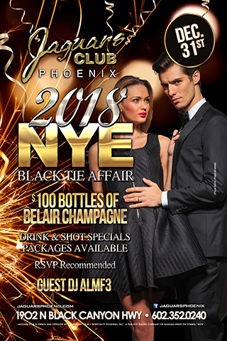 New Years Eve Ball - New Years Eve Ball (Black Tie Affair)  $100 of BelAir Campagne  Drink & Shot Specials Packages Available   RSVP recommended  Guest DJ ALMF3