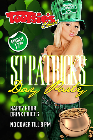 St Patrick's Day Party - Saint Patrick's Day Party Happy Hour Drink prices & no Cover till 8pm