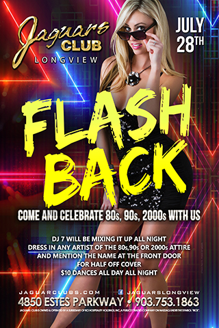flash back 80s,90s,2000s,theme party - Come and celebrate the 80s,90s and 2000s with us.July the 28th DJ 7 will be mixing it up all night .Dress in any artist of the 80s,90s or 2000s attire and mention the name at the front door for halve off cover .$10 dances all day all night.