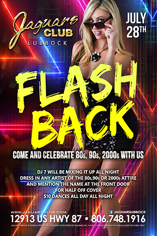 Graphic for flash back 80s,90s,2000s,theme party