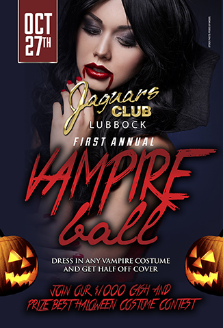 FIRST ANNUAL VAMPIRE BALL - COME AND JOIN US FOR OUR FIRST ANNUAL VAMPIRE BALL .DRESS IN ANY VAMPIRE COSTUME AND GET HALVE OFF COVER. Join OUR $1000 CASH AND PRICE BEST HALOWEEN COSTUME CONTEST.