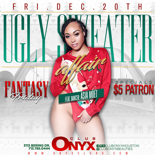 Graphic for All New Happy hour at Club Onyx Houston