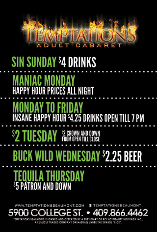 Graphic for Weekly Specials