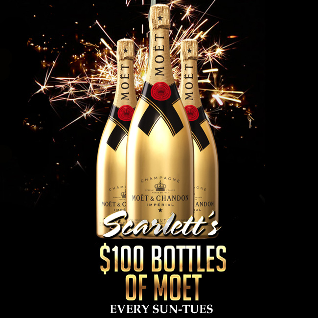 $100 Bottles of Moet Specials