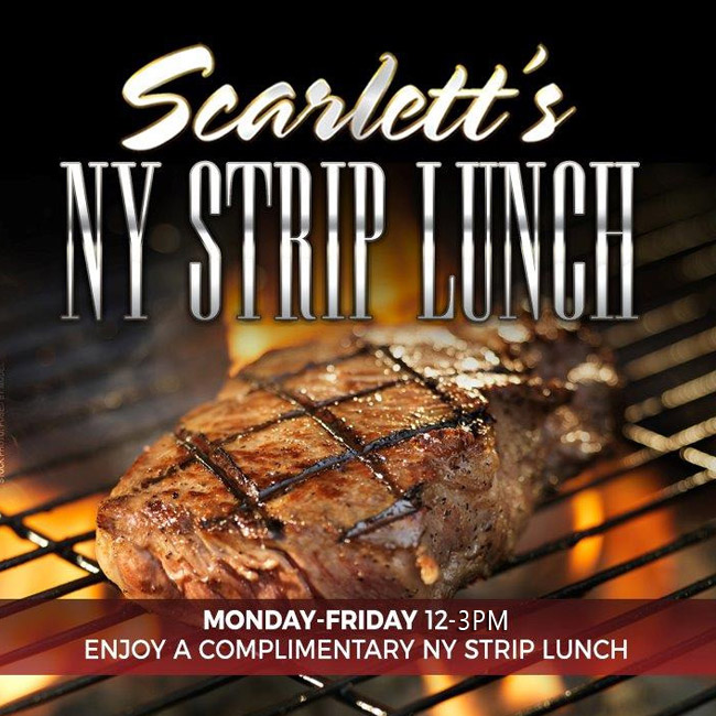 FREE NY STRIP LUNCH SPECIAL