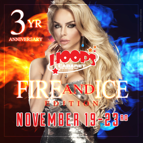 Hoops 3 year Anniversary Fire & Ice
