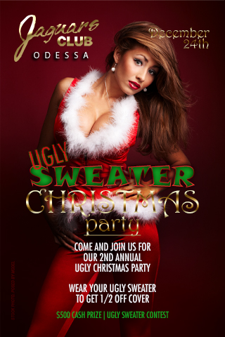 UGLY SWEATER CHRISTMAS PARTY - COME JOIN US FOR OUR 1ST ANNUAL UGLY SWEATER CHRISTMAS PARTY.WEAR YOUR UGLY SWEATER AND RECEIVE HALVE OFF COVER ,NOT TO MENTION YOU CAN JOIN OUR $500 CASH AND PRICE UGLY SWEATER CONTEST. side b halve off cover and google ma