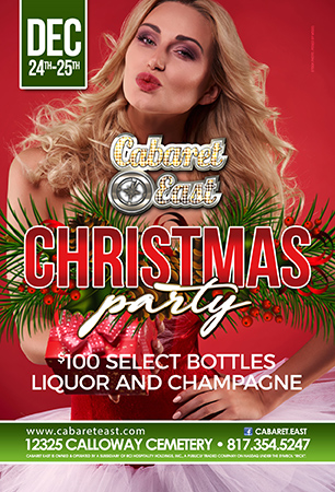 Come celebrate with us Christmas and Christmas eve we will have a 2 day party with select $100 bottles both days. christmas eve $3 crown and down and $3 dollar beers