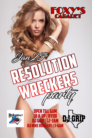 Graphic for Resolution Wreckers Party