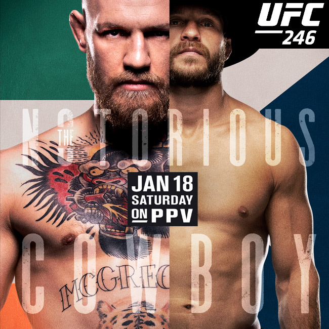 UFC 246 shown live on PPV McGregor vs Cowboy