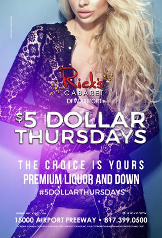 $5 Dollar Thursday's