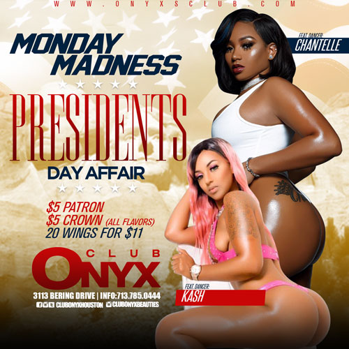 Graphic for Presidents Day Party