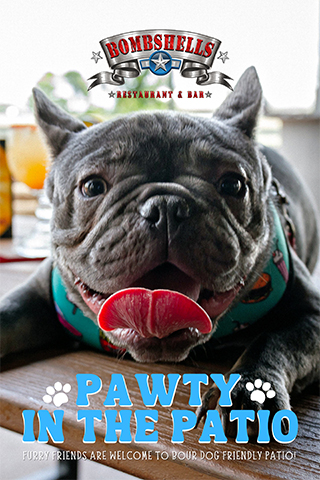 Graphic for Pawty in the Bombshells Patio