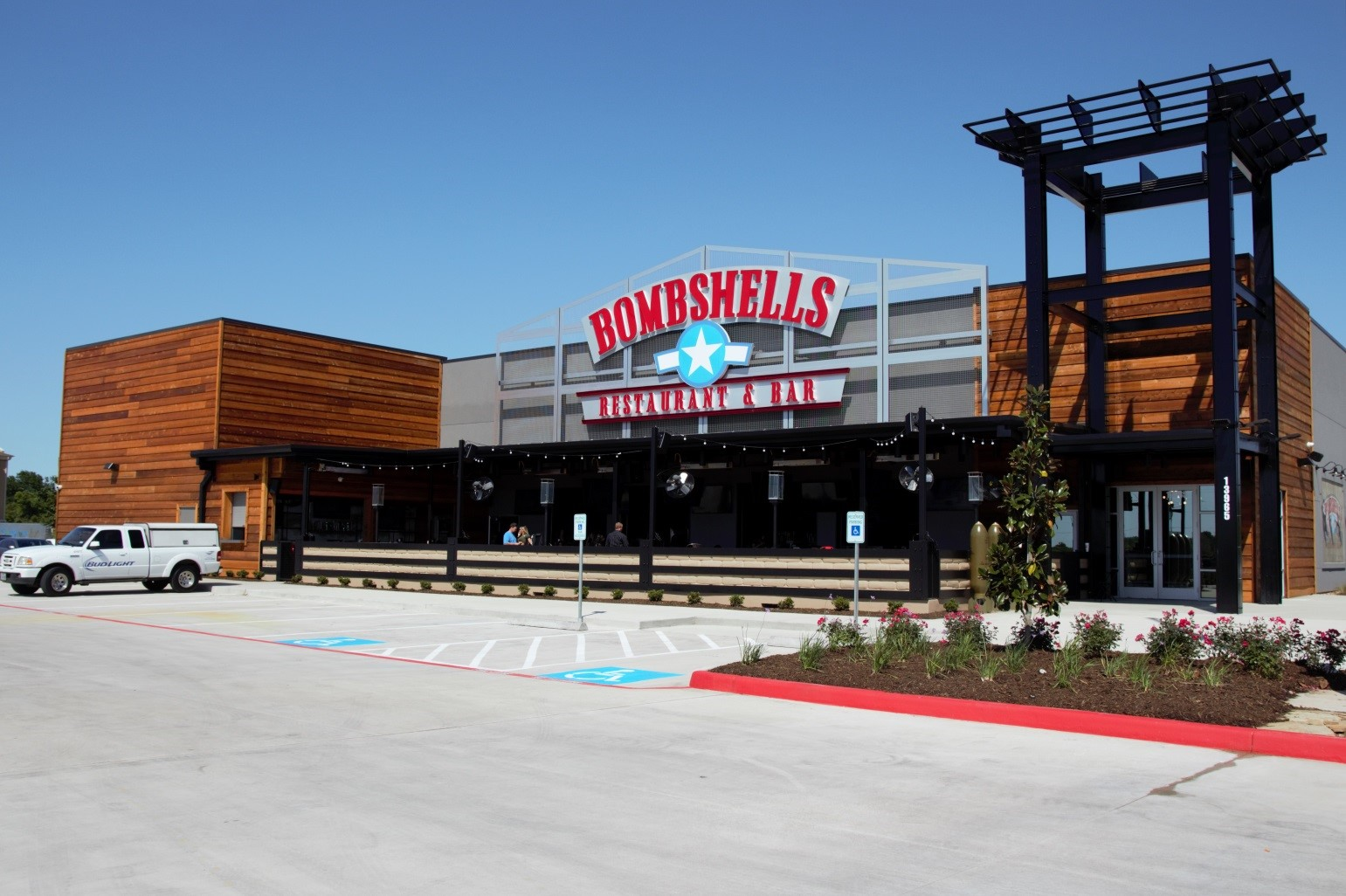 Photo of the beautiful new Bobmbshells in Houston suburb Pearland is the chain's largest with a total of 13,700 square feet